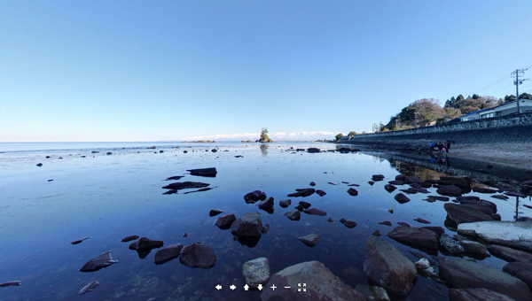 雨晴海岸360°画像公開中